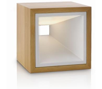Kubiz LAMPA STOLNÍ LED beech 2x2,5W SELV Massive 43268/73/16 + DOPRAVA ZDARMA