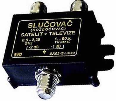 Slučovač TV a SAT IVO SA-03-S