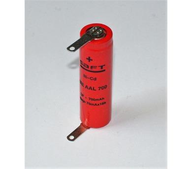 SAFT akumulátor VRE AA 700mAh + pájecí vývody