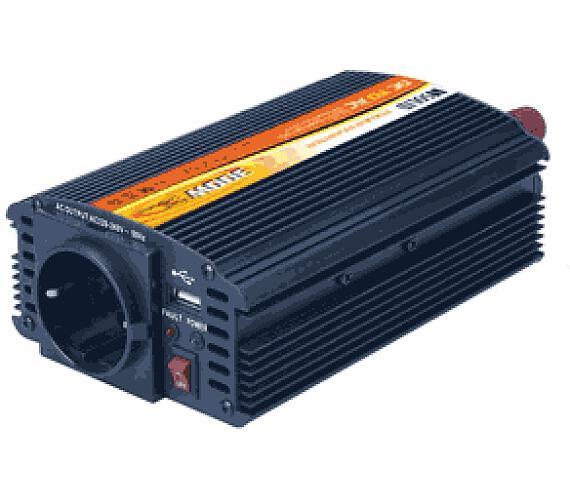 Ostatní Síťový měnič napětí z 12V DC na 230V AC 300W + USB 500mA (INVERTOR)