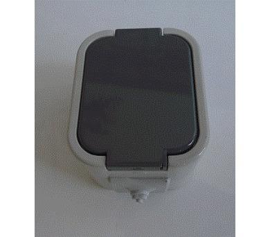Instalační zásuvka GNT-16 IP44 šedý