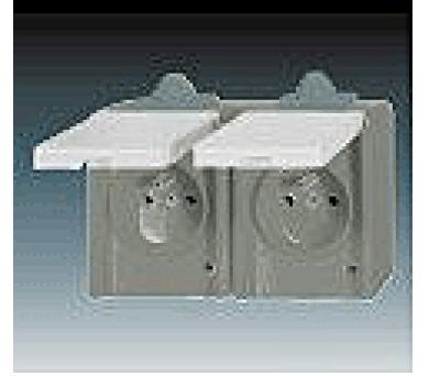 Instalační zásuvka dvojnásobná nástěnná 5518-2069S IP44