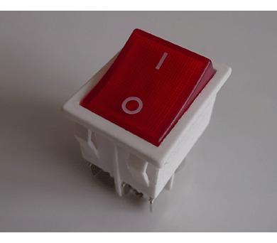 Instalační spínč vestavěný červený 16A