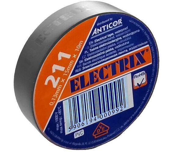 Izolační páska PVC 15/10 ANTICOR šedá