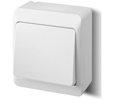 Instalační spínač nástěnný Galatea 5331-02 bílý IP44