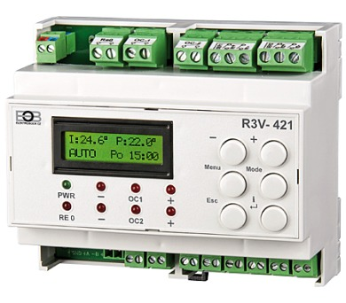 ELEKTROBOCK Dvou-okruhový regulátor ventilů R3V-421 + DOPRAVA ZDARMA