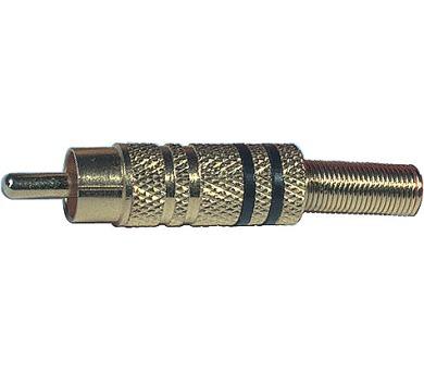 CINCH K312M zlatý-černý - vidlice K2308