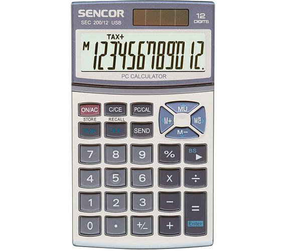 Kalkulačka kapesní SENCOR SEC 200/12 USB DUAL