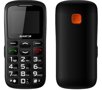 Mobilní telefon Aligator A430 - černý/šedý