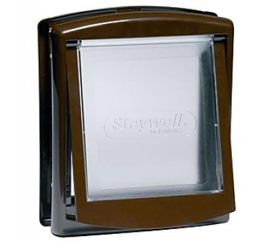 Staywell s transparentním flapem 755 - hnědá + DOPRAVA ZDARMA