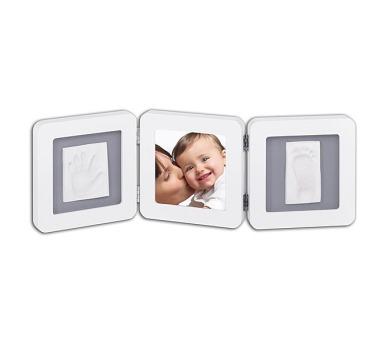 Sada pro otisk Baby Art - Rámeček Double Print Frame White & Grey