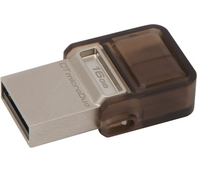 Kingston DataTraveler MicroDuo 16GB OTG USB 2.0 - hnědý