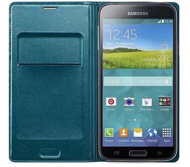 Samsung pro Galaxy S5 s kapsou (EF-WG900BG) - topaz + DOPRAVA ZDARMA