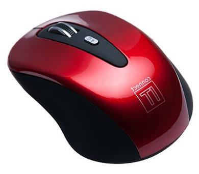 Myš Connect IT Wireless CI-152 / optická / 5 tlačítek / 1600dpi - červená