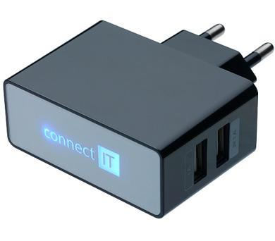 Nabíječka do sítě Connect IT 2x USB