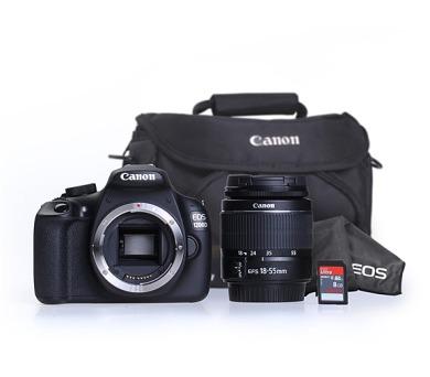 Canon EOS 1200D + 18-55 DC + 8GB pam.karta + brašna