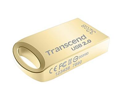 Transcend JetFlash 510G 32GB USB 2.0 - zlatý/kovový