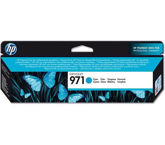 Inkoustová náplň HP 971 azurová