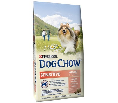 Granule Purina Dog Chow Sensitive losos a rýže 14 kg