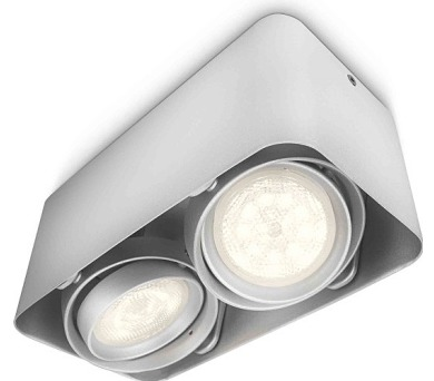 AFZELIA SVÍTIDLO BODOVÉ LED HLINÍK 2x3W Philips 53202/48/16 + DOPRAVA ZDARMA