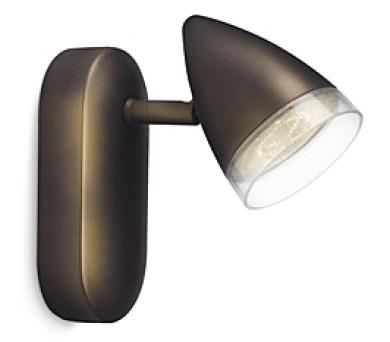 MAPLE SVÍTIDLO BODOVÉ LED bronz 1x3W S Philips 53210/06/16 + DOPRAVA ZDARMA