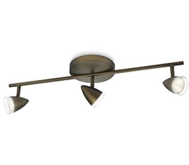 MAPLE SVÍTIDLO BODOVÉ LED bronz 3x3W SELV Philips 53213/06/16 + DOPRAVA ZDARMA