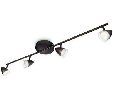 MAPLE SVÍTIDLO BODOVÉ LED bronz 4x3W Philips 53214/06/16 + DOPRAVA ZDARMA