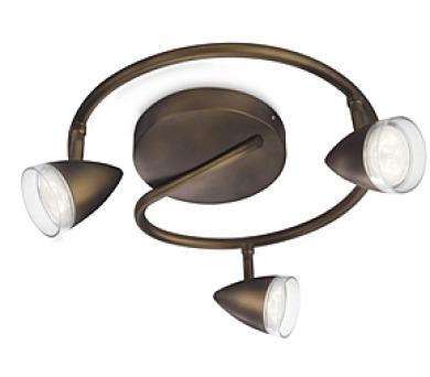 MAPLE SVÍTIDLO BODOVÉ LED bronz 3x3W Philips 53219/06/16 + DOPRAVA ZDARMA