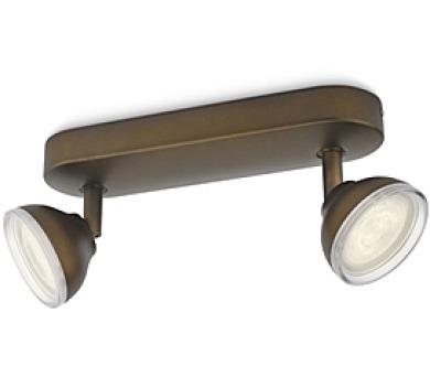 TOSCANE SVÍTIDLO BODOVÉ LED bronz 2x3W SE Philips 53242/06/16 + DOPRAVA ZDARMA