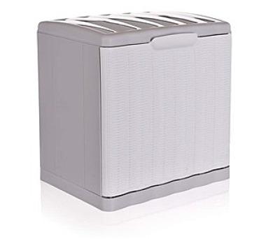 Botník Ratan bílý 40x30x40cm + DOPRAVA ZDARMA