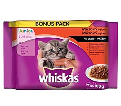 Whiskas JUNIOR ve šťávě BONUS 4pack