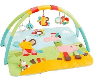 Hrací deka s hrazdou Baby FEHN SAFARI 3D aktivity