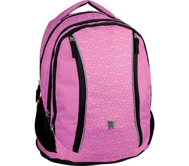 Batoh školní SunCe studentský potisk SCI-FI růžový