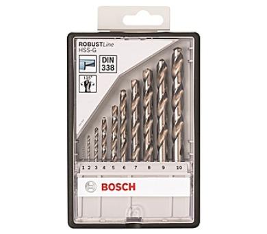 Bosch 10dílná do kovu - Robust Line HSS-G