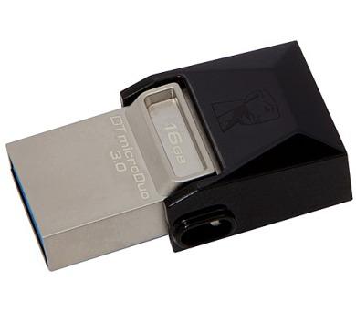 Kingston DataTraveler Micro Duo 3.0 16GB OTG MicroUSB/USB 3.0 - černý