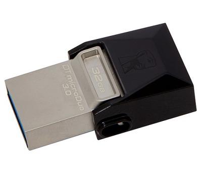KINGSTON DT MicroDuo 32GB / 2v1 - microUSB a USB 3.0 / OTG / černo-stříbrná (DTDUO3/32GB)