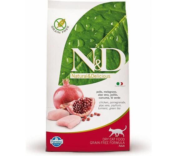 Granule N&D Grain Free CAT Adult Chicken & Pomegranate 10kg