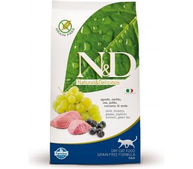 N&D Grain Free CAT Adult Lamb & Blueberry 10kg + DOPRAVA ZDARMA