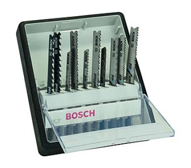 Bosch 10dílná kazeta pilových plátků na dřevo/kov