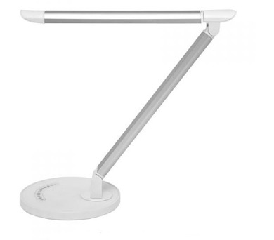 Dotyková stmívatelná stolní led lampa LTZ03 8W bílostříbrná LTZ03-BI