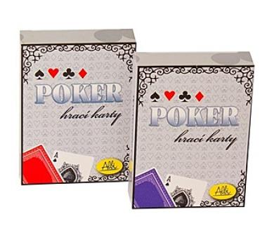 Poker - karty modré