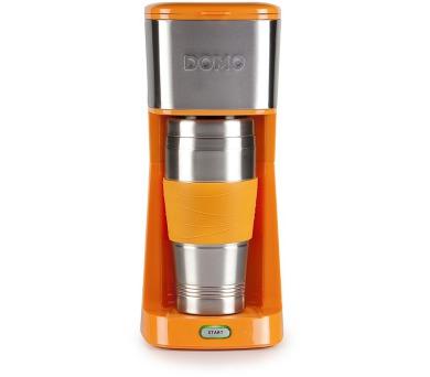 Kávovar s termohrnkem - oranžový - DOMO DO439K