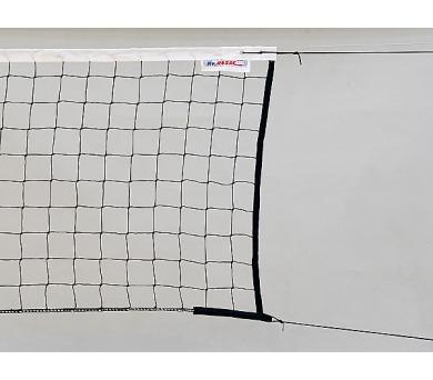 ACRA J12 Volejbalová síť černá 2mm - ocelové lanko