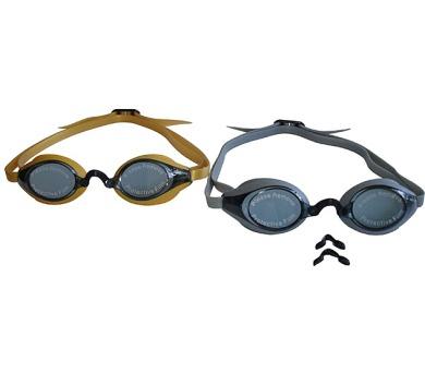 ACRA STAR Závodní plavecké brýle - silikon