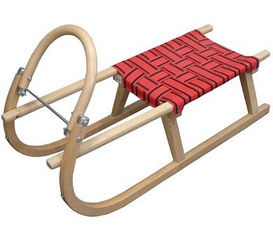 Acra sáně 95 cm dřevěné A204 - červené