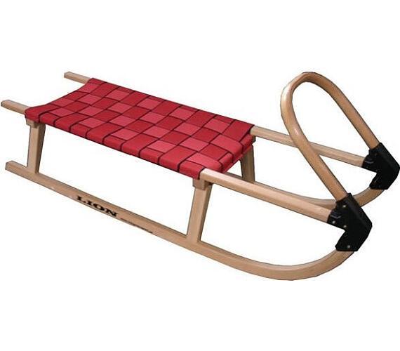 Acra sáně 110cm dřevěné A2041 - červené