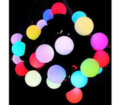 Vánoční osvětlení - KOULE 1cm - 100 LED - RGB BAREVNÉ IP44