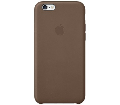 Apple Leather Case pro iPhone 6 Plus / 6s Plus - olive brown