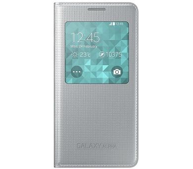 Samsung S-View pro Galaxy Alpha (EF-CG850BS) - stříbrné + DOPRAVA ZDARMA