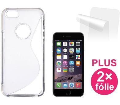 Kryt na mobil Connect IT pro iPhone 6 + 2ks ochranná fólie - průhledný